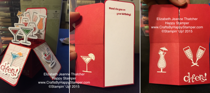 Stamping Up Happy Hour Card-in-a-box, cut files from etsy store HappyStamper508
